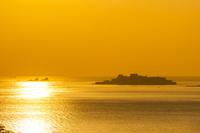 長崎県 夕暮れの軍艦島