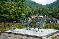 島根県 津和野町 鷺舞像