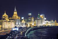 中国 上海 夜の外灘