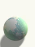 置かれた地球儀