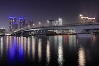 東京都 豊洲大橋とタワーマンションの夜景
