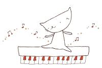 ピアノの上の猫