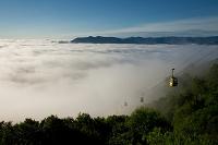 北海道 雲海テラスへのゴンドラ