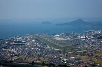 愛媛県  松山空港と瀬戸内海