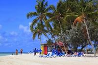 バハマ ココケイ島 海水浴場 砂浜 ビーチ 日光浴