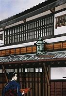 京の町屋 (切り絵)
