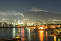 静岡県 ドラゴンタワーより夜景と富士山