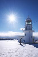 北海道 襟裳岬灯台の冬