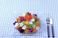 愛知県 食用花の野菜サラダ