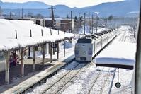 北海道 石北本線 上川駅 特急オホーツク 183系