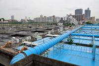 東京都 荒川区 三河島水再生センター 第二沈殿池と北反応槽