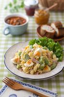 空豆と茹で卵のマカロニサラダ