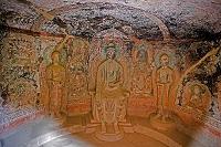 壁画 炳霊寺石窟