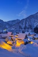 富山県 雪の五箇山夜景
