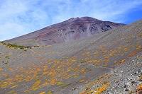 静岡県 富士山 宝永第三火口壁より見る第一火口