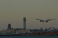 羽田空港へ着陸
