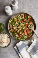 チキンと豆の料理
