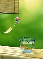 風鈴と金魚鉢