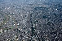 王子より田端 日暮里 上野方面 高度2,000m