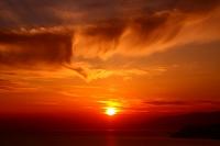 和歌山県 加太 海と夕陽