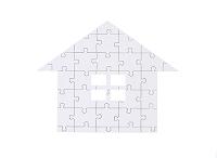 家型のジグゾーパズル