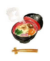 雑煮 (水彩画)