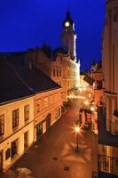 ハンガリー キラーイ通り 夜景