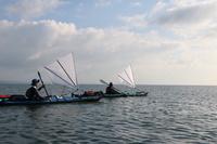 カヌーにセイルをつけて小豆島へ