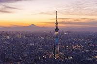 東京都 富士山と東京スカイツリー夜景ライトアップ
