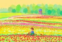 春の花咲く公園