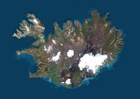 衛星写真 アイスランド