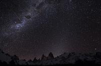 アルゼンチン フィッツロイ 流れ星