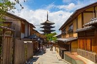 京都府 八坂通と法観禅寺・八坂の塔