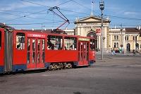 セルビア ベオグラード トラムとベオグラード本駅