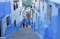 モロッコ シャウエン 朝の街並み