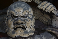 京都府 仁和寺の仁王門阿形金剛力士像