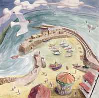 The Cobb, Lyme Regis (w/c on paper)
