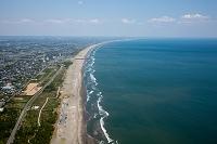 千葉県 九十九里浜の海岸線(白子町,白子海岸~銚子方面)