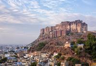 インド ジョードプル メヘラーンガル城と街並み