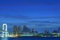 東京都 お台場レインボーブリッジから見る芝浦埠頭の夜景