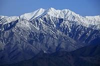 長野県 鷹狩山展望台から北アルプスの爺ヶ岳