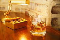 ウイスキーとシガー