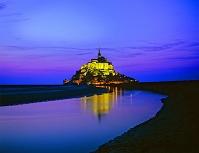 フランス モンサンミッシェル夜景