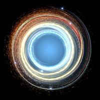 入り混じりながら旋回する光線群
