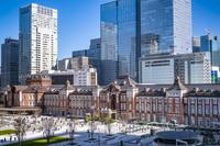東京都 丸ビルから見た東京駅丸の内駅前広場