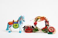 小幡土人形鞍付き馬と正月飾り