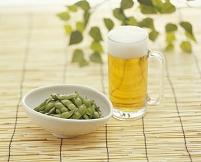 ビールと枝豆(だだちゃ豆)