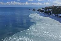 北海道 霧多布岬とハス葉氷
