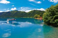 秋田県 田沢湖の遊覧船