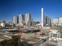 オリンピック選手村の建設現場 中央区晴海